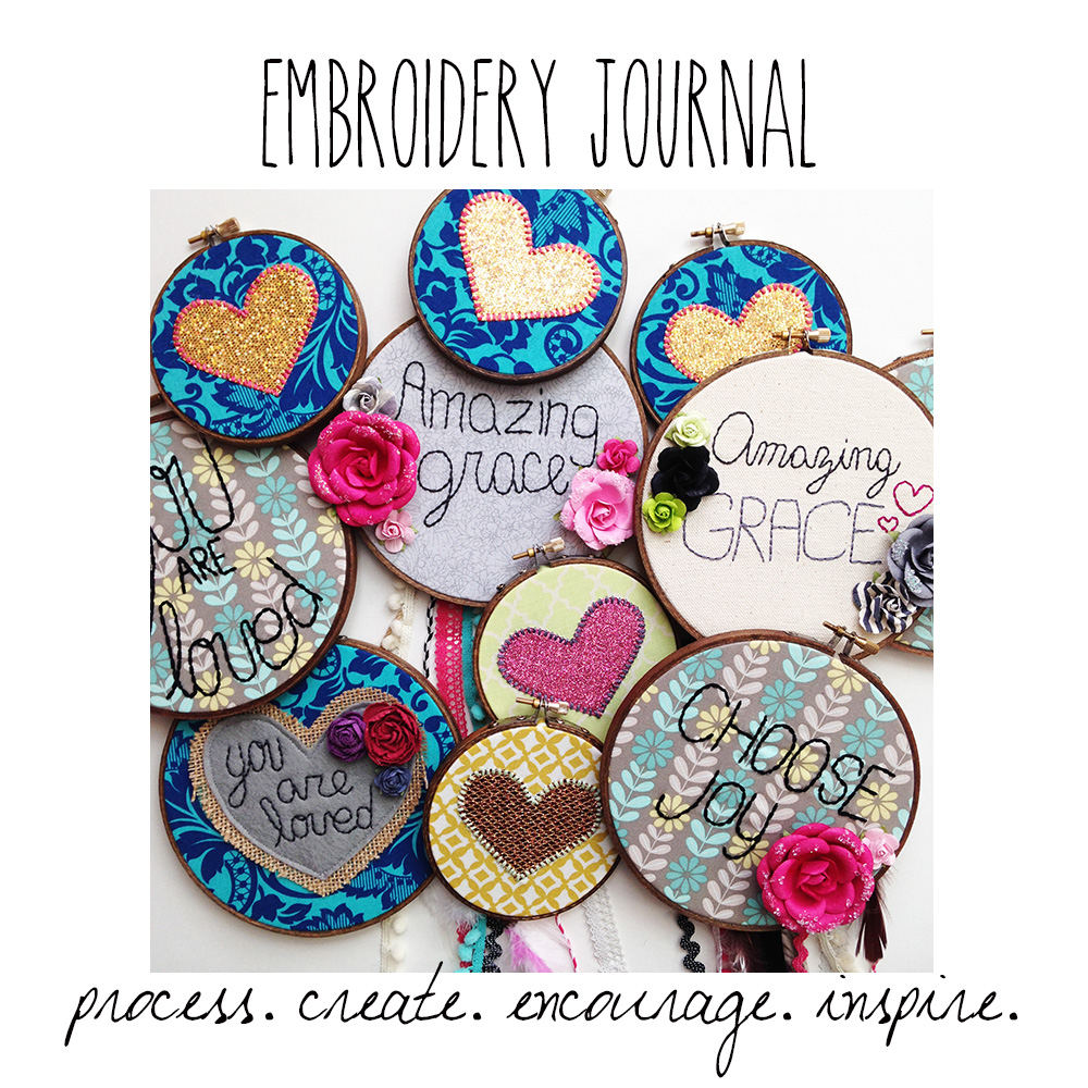 an embroidery journal