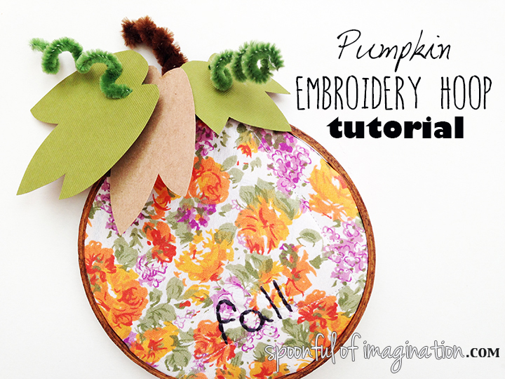 DIY Pumpkin Embroidery Hoop