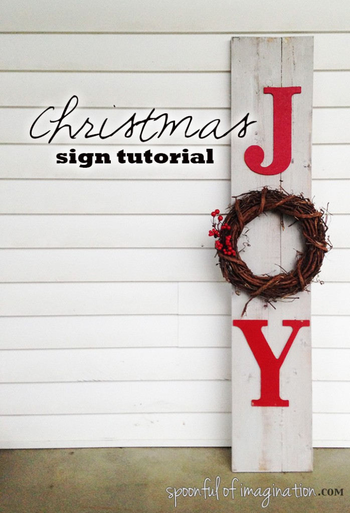 Christmas Joy Sign Tutorial