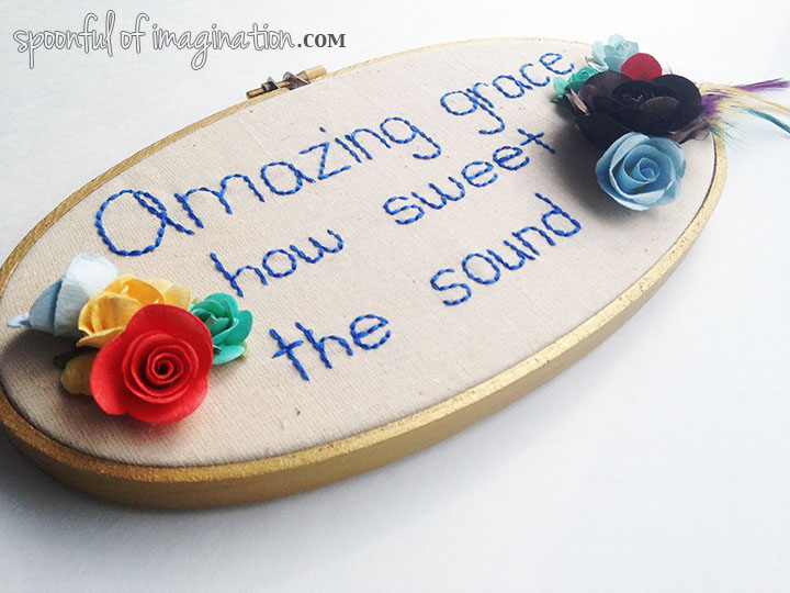 amazing grace_embroidery_hoop