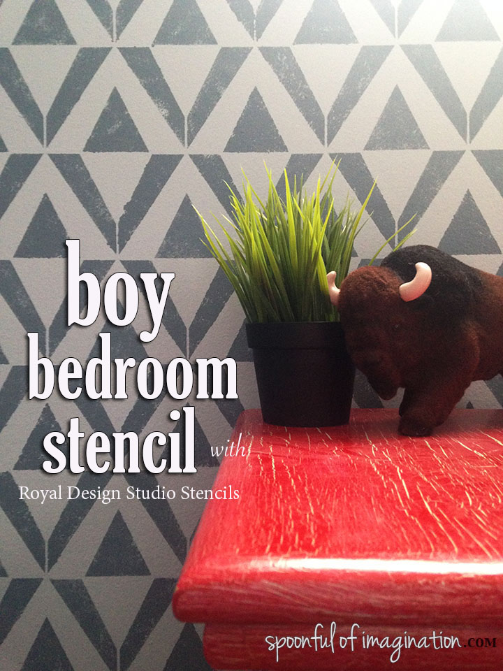 Boy Bedroom Stencil