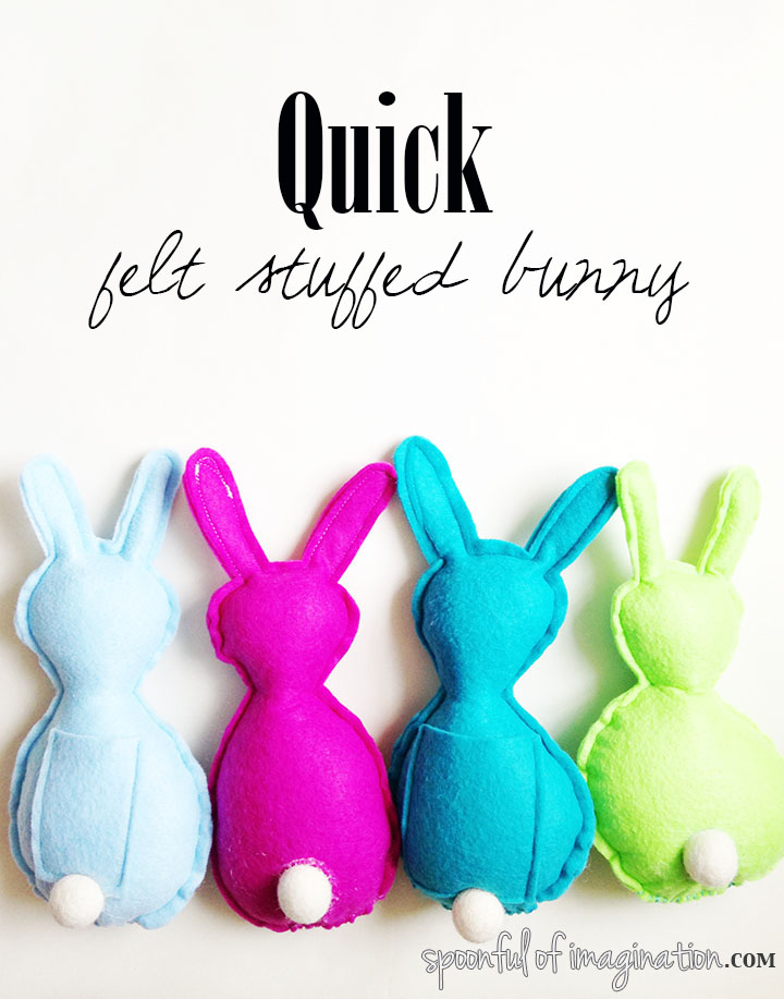 Quick And Easy DIY Felt Bunny