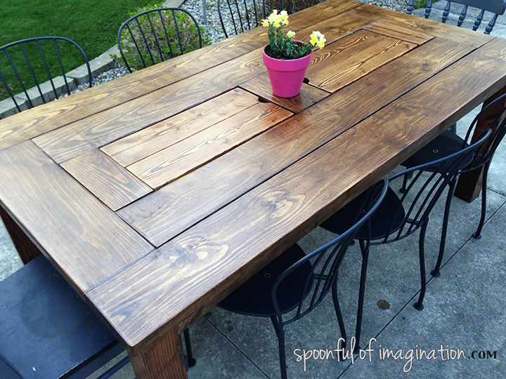 how to stain a patio table 2