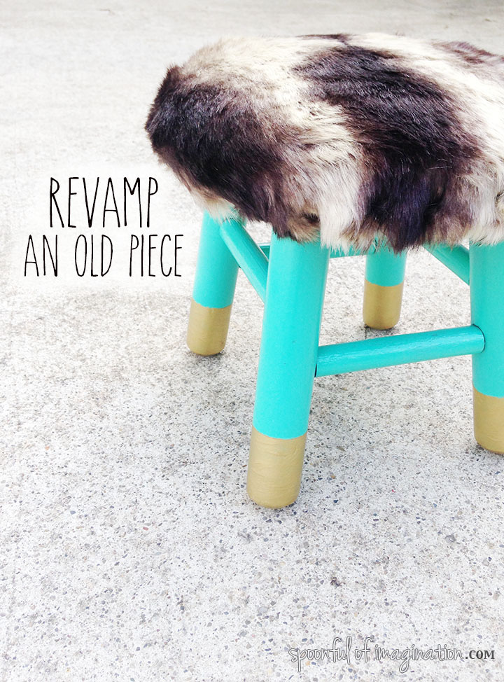 DIY Inexpensive Fur Stool