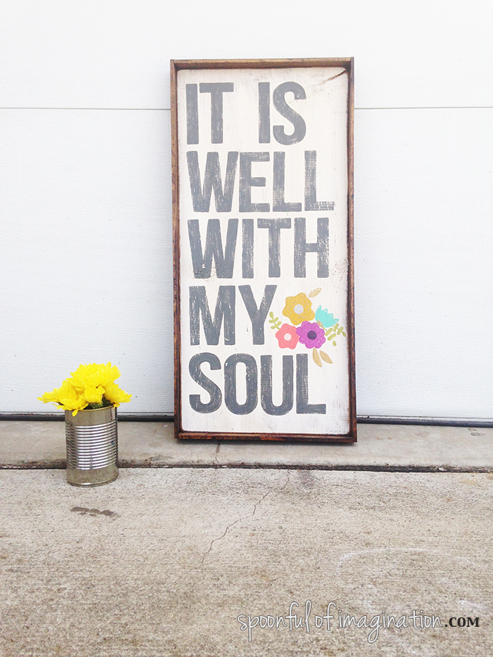 It is well with my soul wood sign3