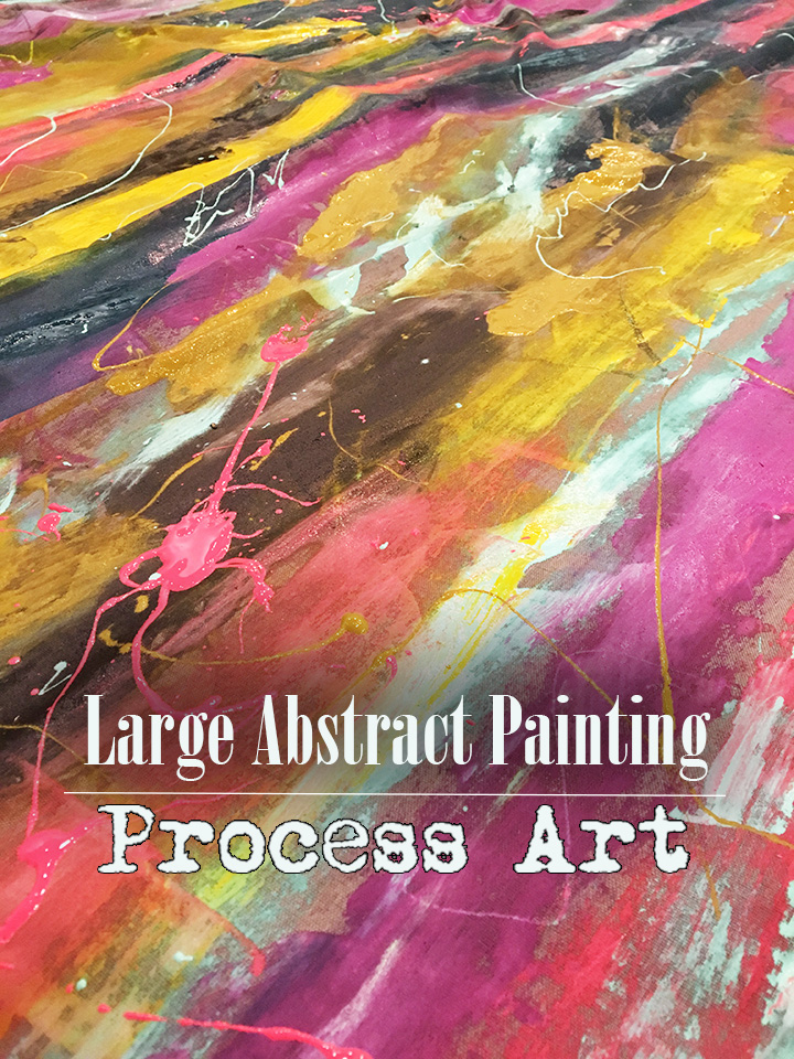 Large Abstract Painting- enjoy the process