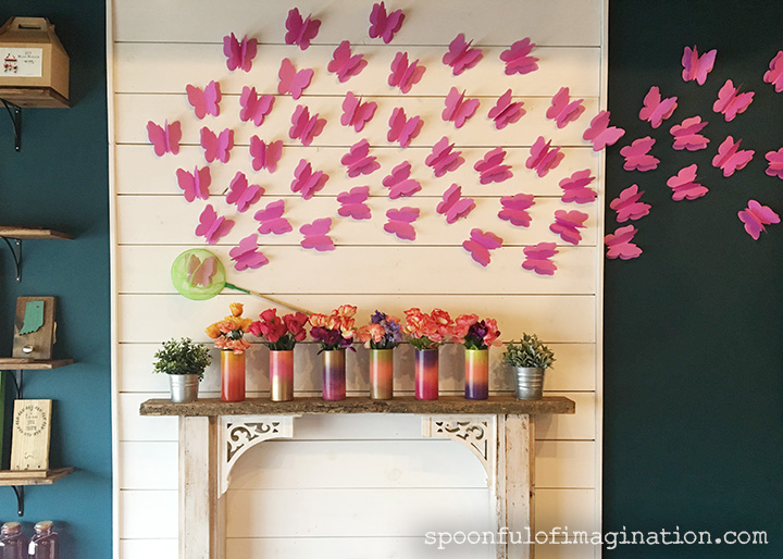 DIY Paper Butterflies- Spring decor for cheap